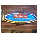 BUDWEISER 2 COLOR NEON SIGN