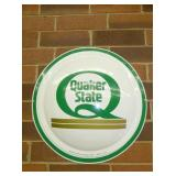 30IN. BUBBLE EMB. QUAKER STATE SIGN