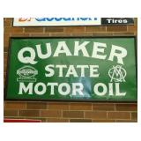 36X60 EARLY QUAKER STATE MOTOR OIL SIGN