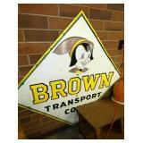 48IN. BROWN TRANSPORT TRUCK SIGN