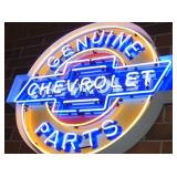 VIEW 3 CLOSE UP CHEVROLET BOW TIE NEON