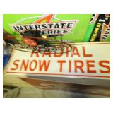 RADIAL SNOW TIRES EMB. SIGN