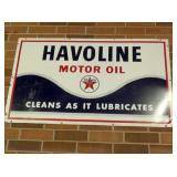 HAVOLINE MOTOR OIL & TEXACO SIGN