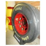 ORG. NASCAR WHEEL & STAND