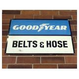 GOODYEAR BELTS & HOSES METAL SIGN