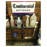 CONTINENTAL BATTERY RACK W/SIGN