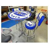 FORD PARTS TABLE & STOOLS