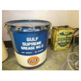 GULF 5G. GREASE CAN