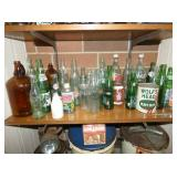 COLLECTION OF SODA BOTTLES & OTHER