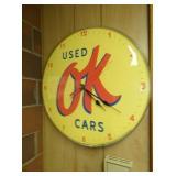 12IN OK USED CARS CLOCK
