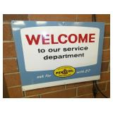 PENNZOIL WELCOME SIGN