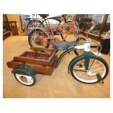 UNUSUAL TRICYCLE W/WOODEN BED