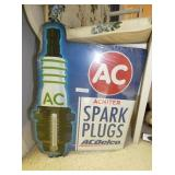 20 IN. AC SPARKPLUG SIGN THERM.