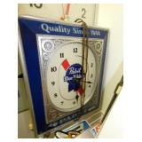 14IN. PABST BLUE RIBBON LIGHTED CLOCK
