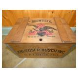 BUDWEISER ANHEUSER BUSCH WOOD BOX