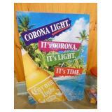 18X24 EMB. CORONA LIGHT SIGN