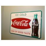 Coca Cola FISHTAIL REPLICA SIGN