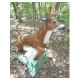 VIEW 2 SIDE VIEW CONCRETE DEER STATUE