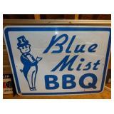 48X37 BLUE MIST BBQ SIGN