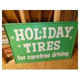 36X24 HOLIDAY TIRES SIGN