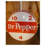 24IN. EMB. DR. PEPPER CAP SIGN