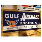 38X18 EMB. GULF AIRCRAFT ENGINE OIL