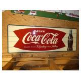 32X12 EMB. COKE FISHTAIL SIGN