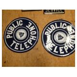 (2) 23IN. PUBLIC TELEPHONE SIGNS