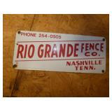 12X5 PORC. RIO GRANDE FENCE SIGN