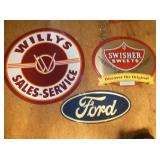 23IN. EMB. WILLS/FORD/SWEETS SIGNS