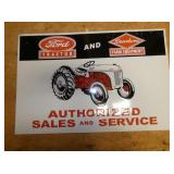 36X24 EMB. FORD TRACTOR SIGN