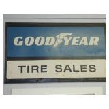 60X36 1959 GOODYEAR TIRE SALES SIGN