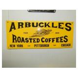 19X8 EMB. ARBUCKLES COFFEE SIGN