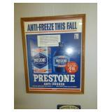 15X12 PRESTONE FRAMED ADV.