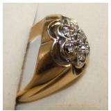 VIEW 2 GOLD & DIAMOND MENS RING