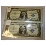 1957 BLUE SEAL $1 BILLS