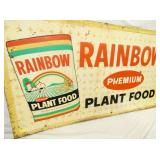 VIEW 2 CLOSEUP RAINBOW PLANT FOODS SIGN