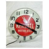 15IN KENDALL MOTOR OIL CLOCK