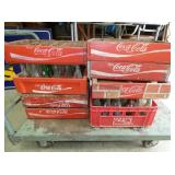 WOODEN COKE CARRIES AND BOTTLES