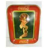 1927 COKE TRAY W/ LADY