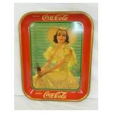 1938 COKE TRAY W/ LADY