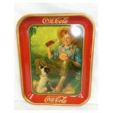 1931 COKE TRAY W/ BOY & DOG