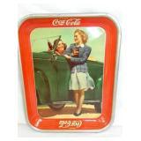 1942 COKE TRAY W/ CAR