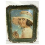 1922 COKE TRAY LADY W/ HAT