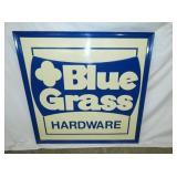 46x46 EMB. BLUE GRASS HARDWARE SIGN