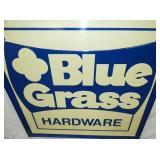 VIEW 2 CLOSEUP EMB. BLUE GRASS SIGN