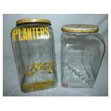 PLANTERS JARS W/ ORIG. LIDS