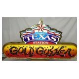 84X45 LIGHTUP TEXAS GOLD GUSHER SIGN