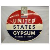 36X33 UNITED GYPSUM SIGN
