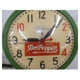 VIEW 2 CLOSEUP 15IN DR. PEPPER CLOCK